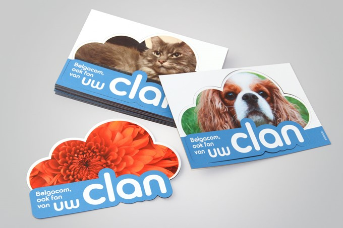 Customised magnet sticker - Belgacom