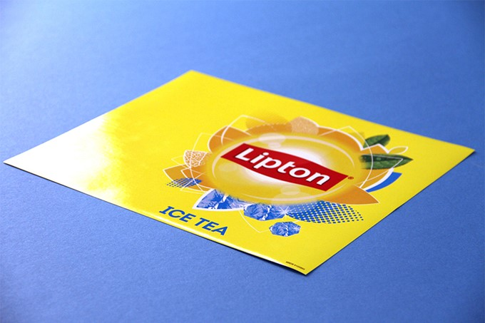 Commerciële sticker - Lipton