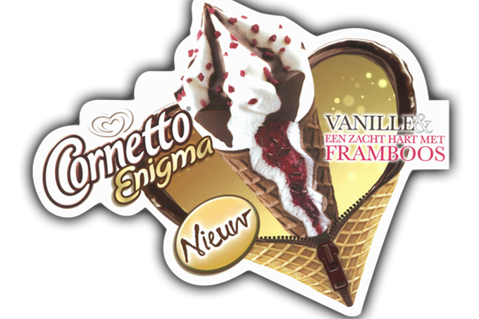 Commerciële sticker - Cornetto Enigma